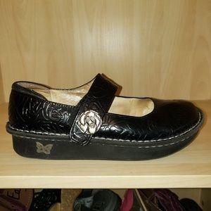 Algeria Mary jane black leather embossed clog
